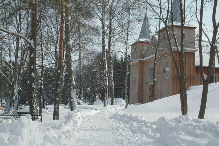 Kościół z 1780 roku w Jaminach