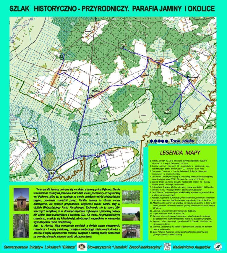 Otwarcie szlaku historyczno-przyrodniczego parafii Jaminy i okolic