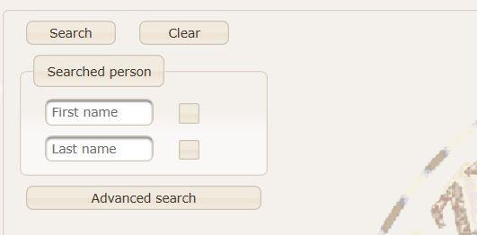 Podstawowy interfejs wyszukiwania Geneo.