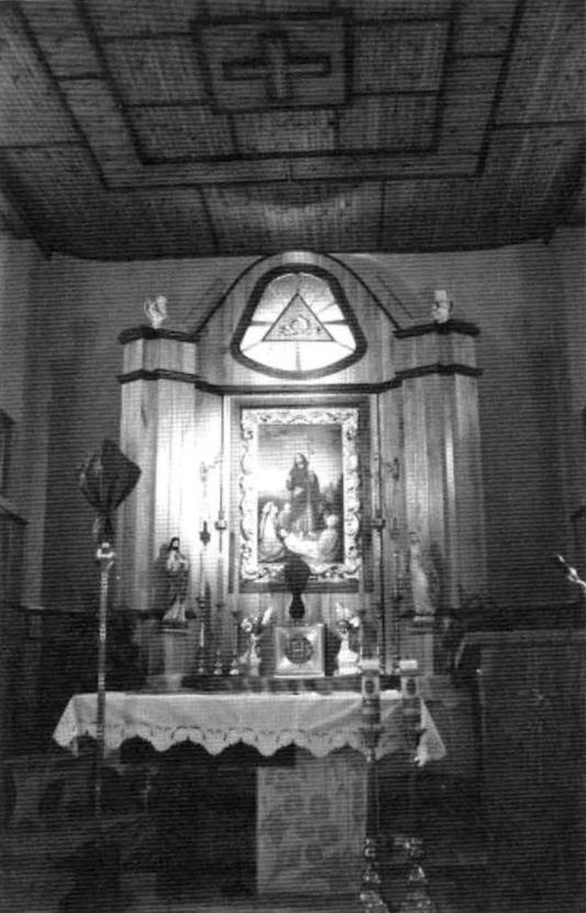 5. Ołtarz główny św. Rocha w kościele pw. św. Rocha w Krasnymborze (w zbiorach ROBiDZ Białystok).
