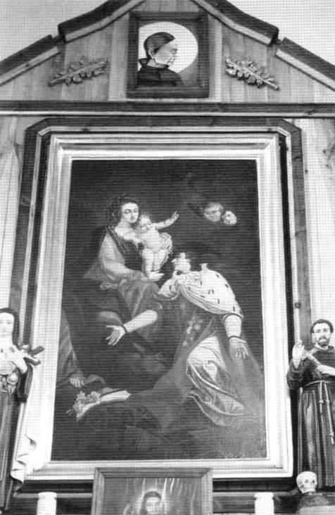 6. Ołtarz boczny św. Kazimierza w kościelepw. św. Rocha w Krasnymborze (w zbiorach ROBi OZ Białystok).