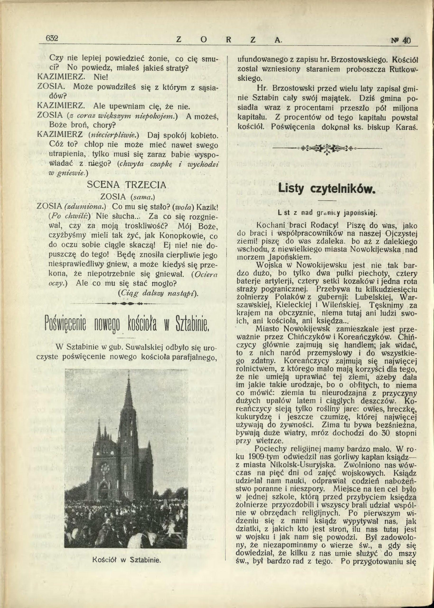 Zorza nr 40/1910