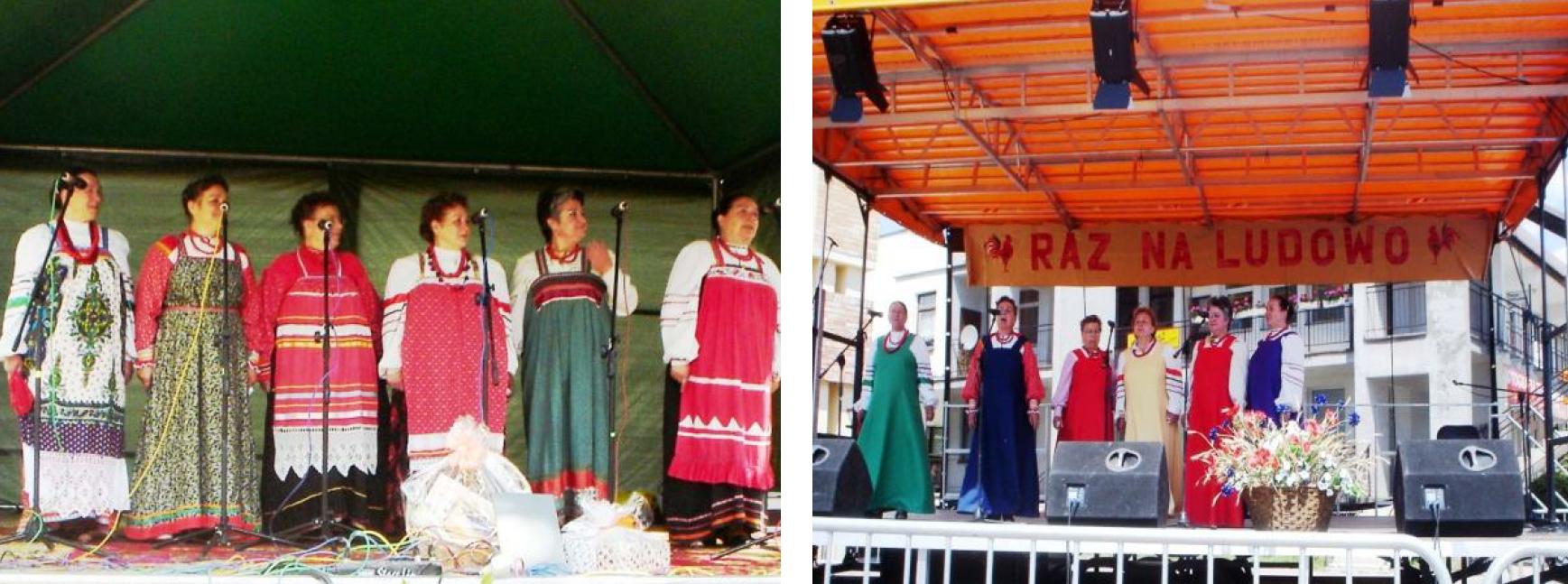 Folklorystyczny zespół Rosjan Starowierów Riabina. Fot. Józefa Drozdowska