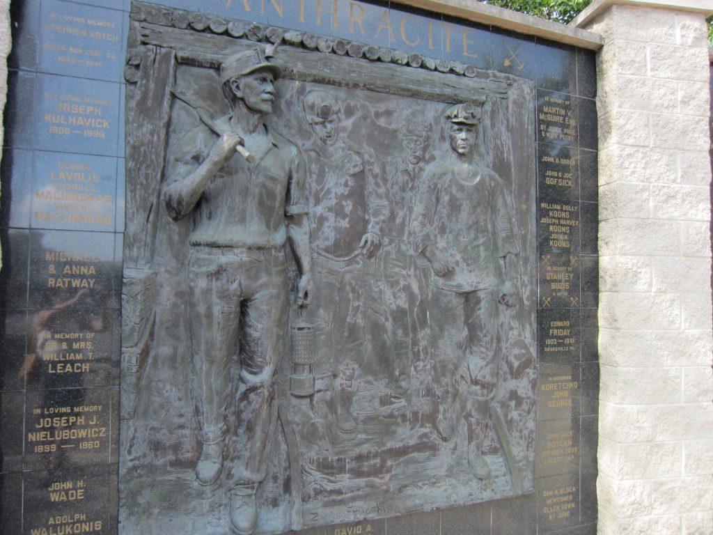 Tablica upamiętniająca górników