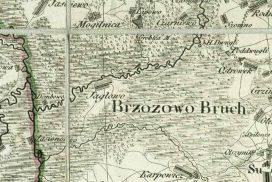Mapa Prus Nowowschodnich Textora-Sotzmana 1808 - fragment