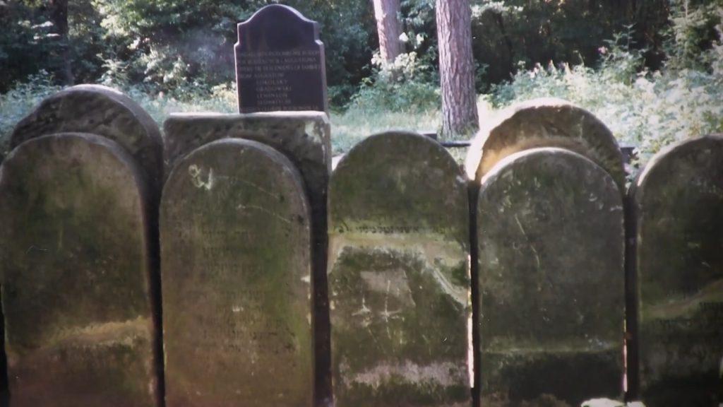 Macewy na dawnym cmentarzu żydowskim w Augustowie - stan pierwotny. Fot. Naomi Zeavin