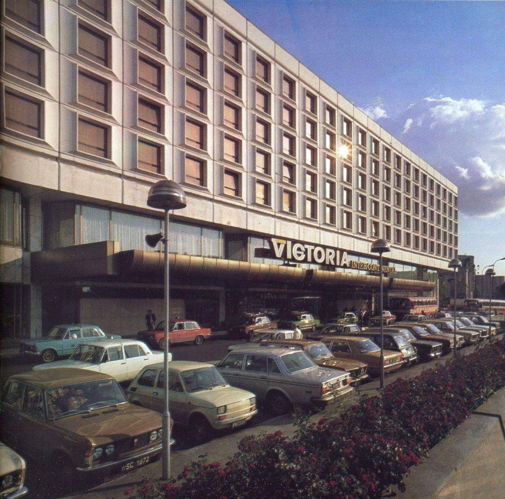 Hotel Victoria Intercontinental przy ul. Królewskiej w Warszawie. Początek lat 80-tych